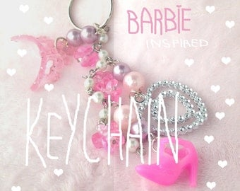 Barbie Inspired Girly Glam Keychain