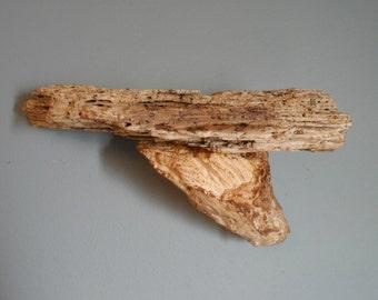 Authentic driftwood shelf
