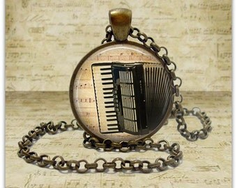 Accordion Necklace Instrument jewelry Accordion Instrument pendant Polka Octoberfest Acccordion Player gift for musician