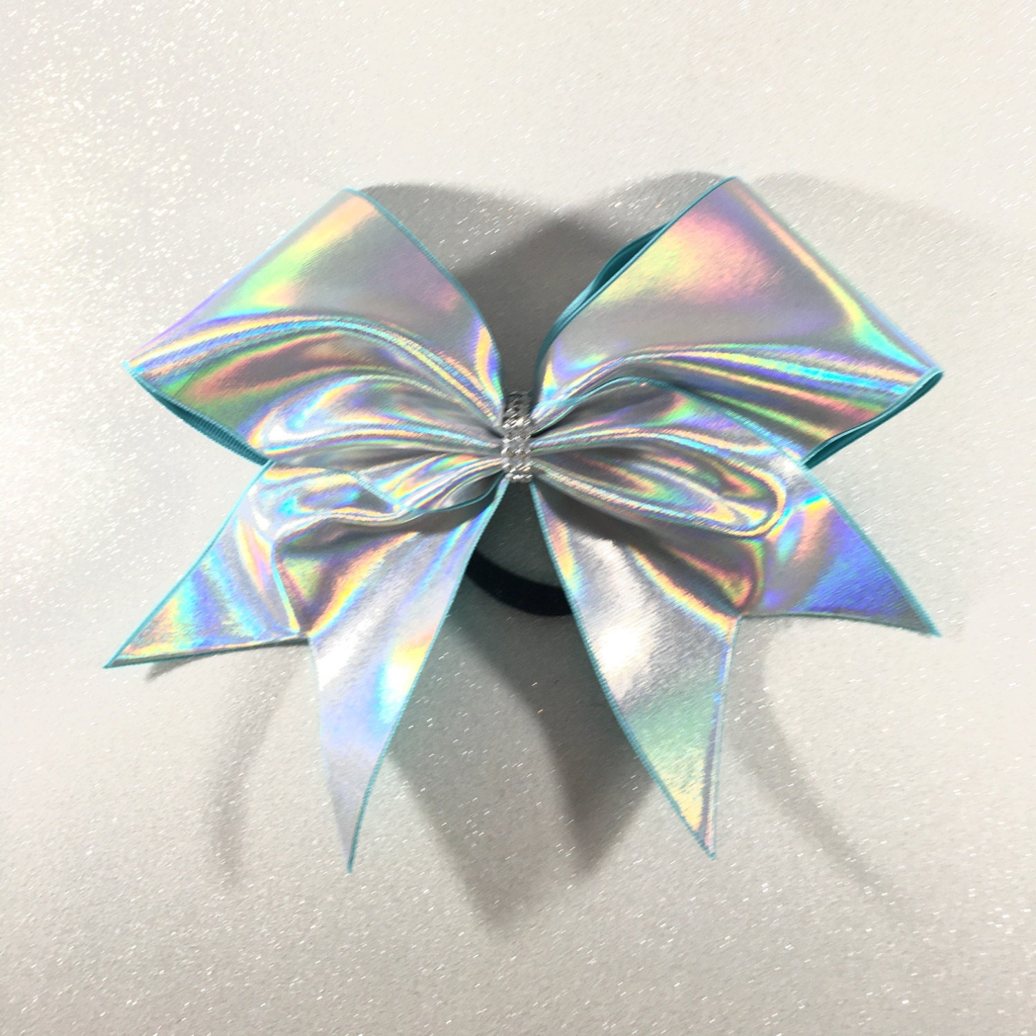Holographic Silver Cheer Bow Holo Cheer Bow Plain Cheer