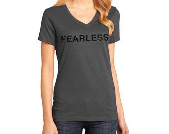 Fearless Black Glitter T-Shirt