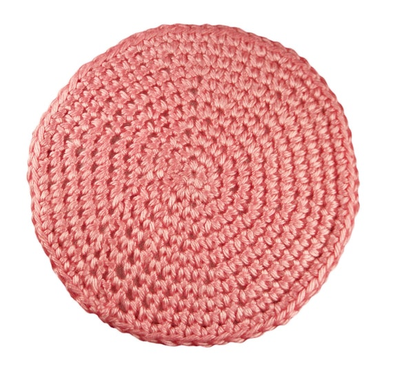 Doll Crocheted Rug Light Pink 6 Round Area Rug