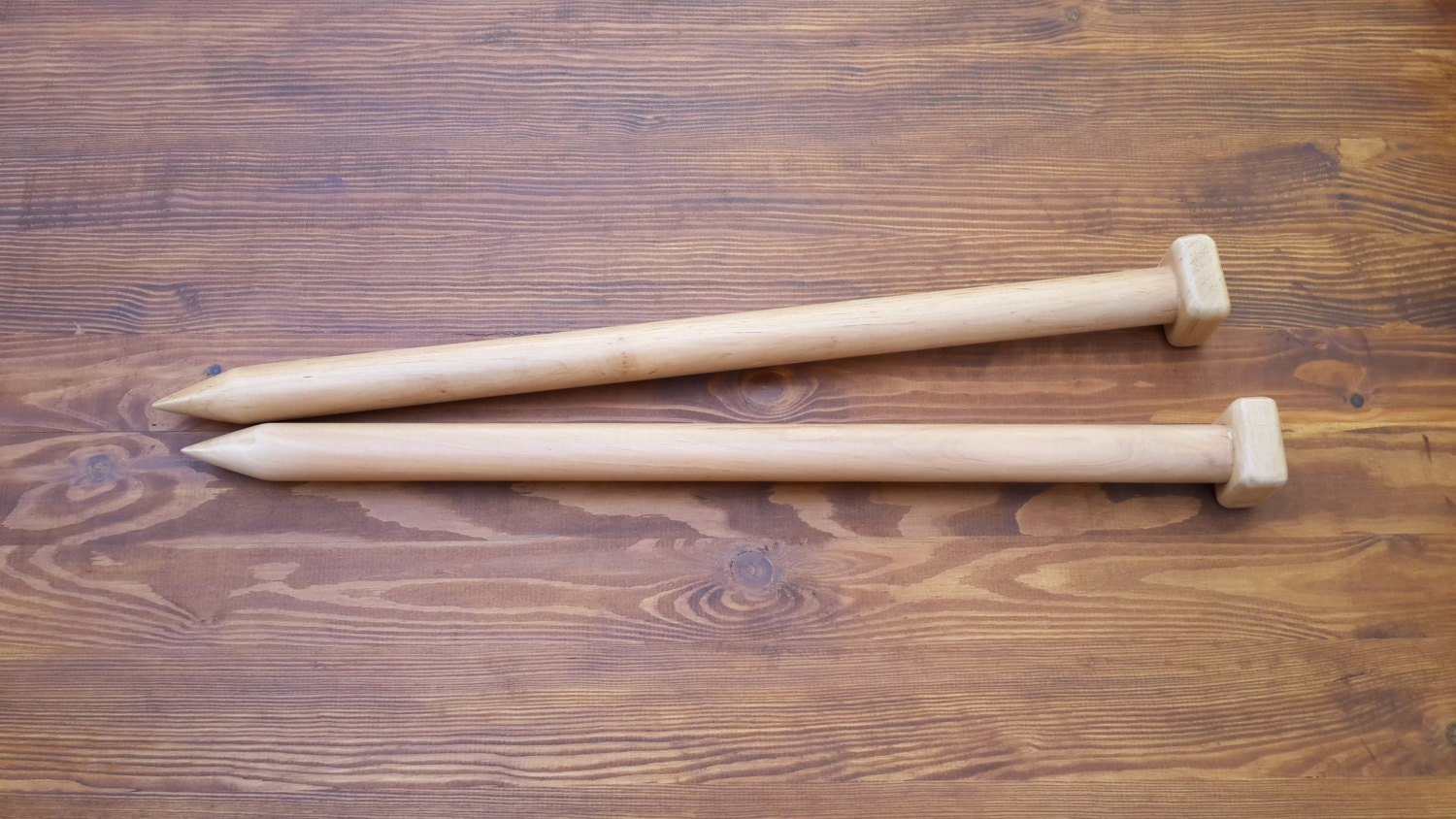 Giant Knitting Needles Uk : Free shipping big knitting needles giant wood