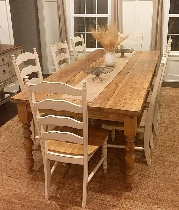 Distressed Reclaimed Farmhouse Dining Table