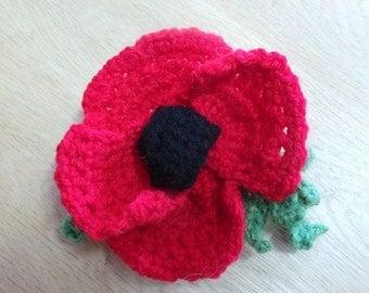 Crocheted Poppy Pattern / Instructions