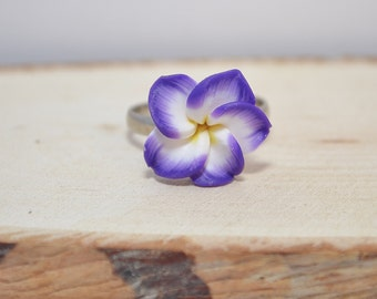 Ring Flower, Flower Ring jewelry,  Ring Flower polymer clay.