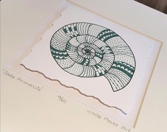 Jade Ammonite Illustration - Limited Edition