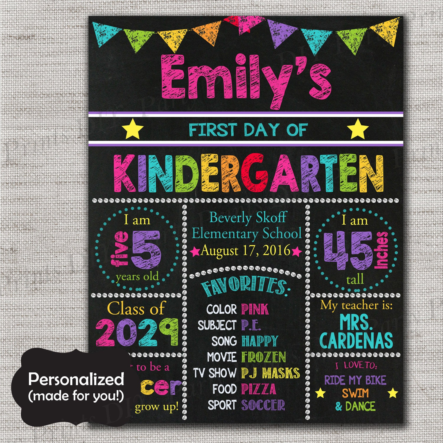 first day of school signfirst day of school chalkboard. Black Bedroom Furniture Sets. Home Design Ideas