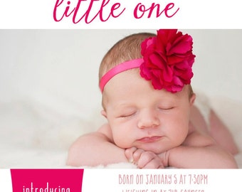 Digital Printable Birth Announcement Print - Digital File ONLY