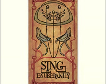Mackintosh - Sing Exuberantly: Matted Giclée Art Print by The Bungalow Craft by Julie Leidel (Arts & Crafts Movement)