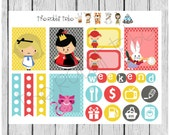 Weekly sticker set - Alice in Wonderful - planner stickers