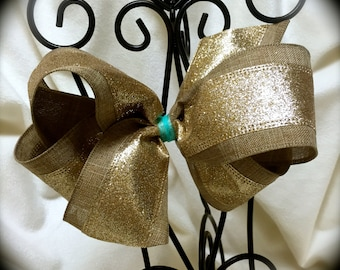 Canvas GLITTER Hair Bow~Large