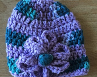 Baby Girl Crochet Hat with Flower