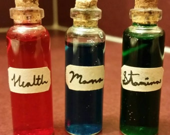 Small Fantasy Potion Bottles