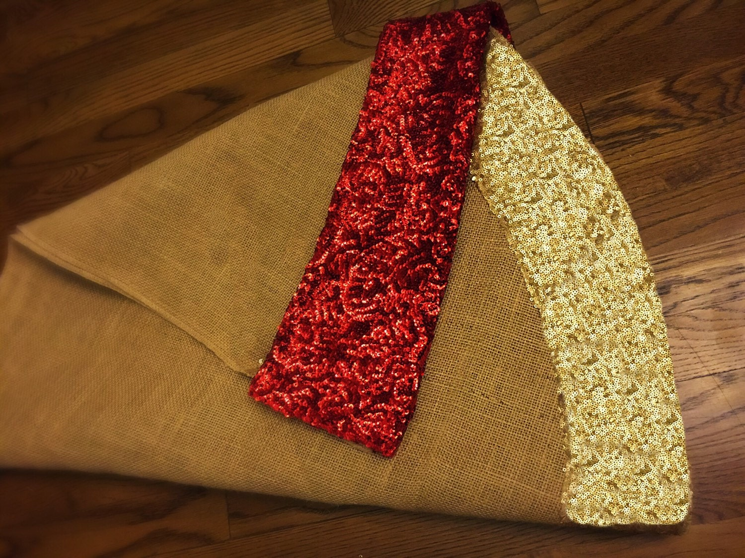 Gold Christmas Tree Skirts Part - 20: Christmas Tree Skirt, Burlap And Gold Or Red Sequence Christmas Tree Skirt, Tree  Skirt, 60 Inches Diam, Christmas Decor, Sequin, Sequence