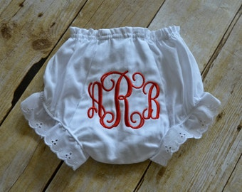 Girls Bloomers - Girls Monogrammed Bloomers - Infant Monogrammed Bloomers - Baby Girl Monogrammed Bloomers - Baby Initial Bloomers