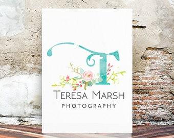 Photography Logo , Watercolor Logo - Premade Logo Design - Floral Logo