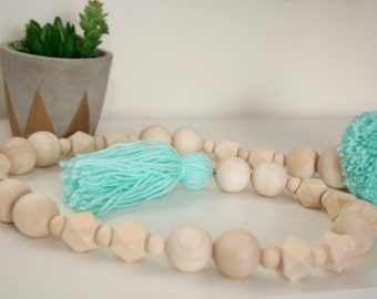 Natural Wooden Beads Garland/Mobile