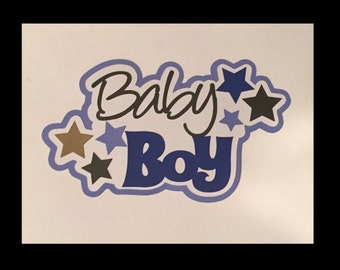 Baby boy  Title premade paper piecing scrapbook Free shipping!!!