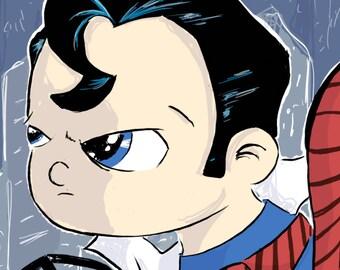 Superman Comic Sized Art Print
