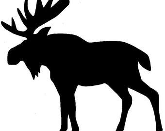 Moose Black Vinyl Sticker