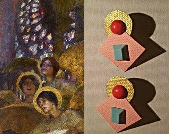 Earrings Angel/Angel earrings unique pattern