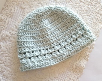 Accent Lacey Crochet Hat- Mom, Lady, Simple, Gift, Boy, Girl, First, Photography Prop