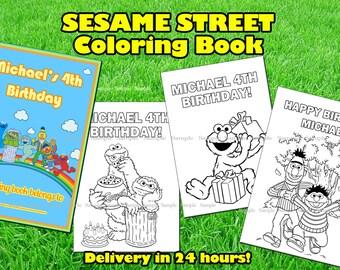 SESAME STREET COLORING book.Sesame Street printable book.Sesame Street birthday party.Sesame Street party favor