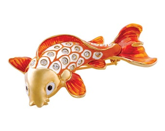 Koi Fish Brooch Gold Plated