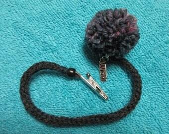 Gray Crocheted Roach Clip