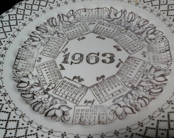 1963 Plate, Gold Birth Year Commorative Plate