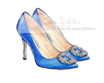 Manolo Blahnik shoes (Print)