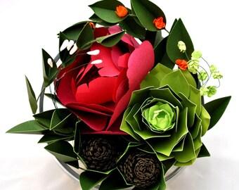 The Tea Rose Succulent Terrarium