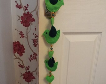 Hanging Mobile, for windows, curtain poles, anywhere you fancy