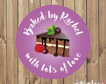 Personalized Baked By Stickers, Home Baked Stickers, Baking Labels, Baking Tags, Personalized Baking Stickers, Custom Stickers, Bespoke Tags