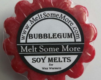 Soy Wax Melts Bubblegum scent for tart warmers