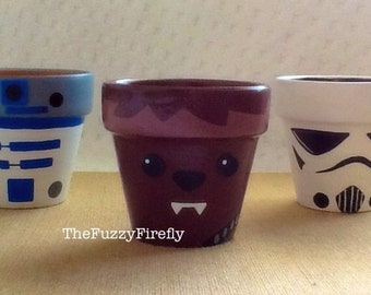 Set of 3 Star Wars Inspired Party Favors,Storm Trooper,Chewbacca,Princess,R2D2,Birthday Decoration, Baby Shower Decor, Party Favor