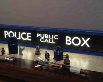 Police Public Call Box - TARDIS - Lighted Sign - Doctor Who