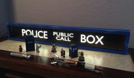 Police Public Call Box Tardis Lighted Sign Doctor Who