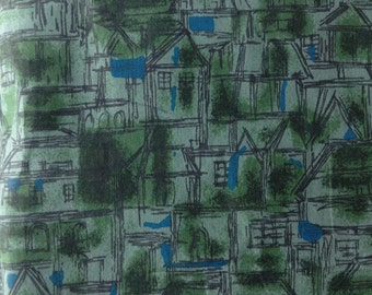 1960s Architectural Print Yardage by Fruit of the Loom