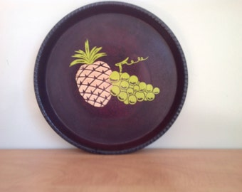 Pineapple, pineapple flat, flat tray vintage, cabaret, pineapple, pineapple