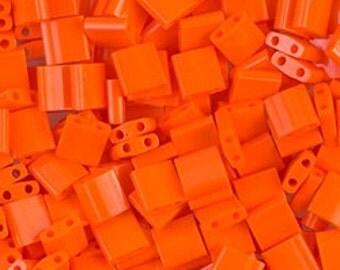 Tila Bead- Op Orange  #406  Miyuki Tila Beads - 10 grams