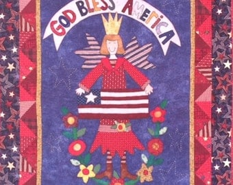 God Bless America Angel Quilted Wall Hanging