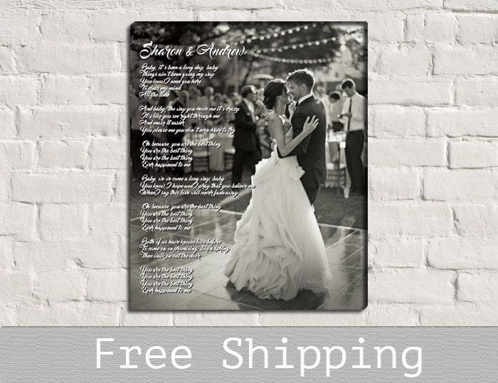 Wedding First Dance Song Lyrics Photo On Canvas Song