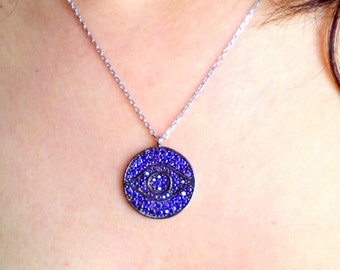 Amethyst Necklace-Amethyst Ra Necklace-Hand Made Amethyst Necklace