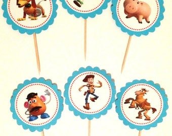 Toy Story Cupcake Topper - Toy Story Birthday - Toy Story Party Decorations - Toy Story Baby Shower - Woody - Buzz Lightyear - Toy Story