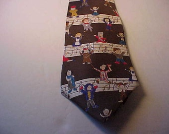Vintage Save THe Children Tie - The Sound of Music By Joyce Age 10