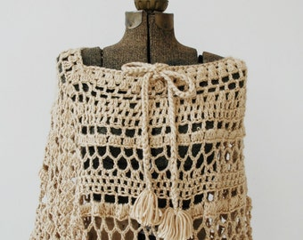 Cream Knit Shawl