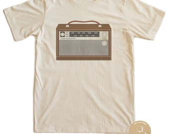 Vintage Radio Rock T-shirt 100% Organic Cotton
