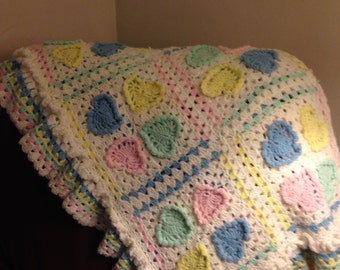 Soft Hearts Baby Blanket